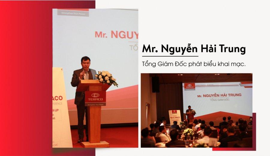 Mr Nguyễn Hải Trung-Tổng Giám Đốc phát biểu khai mạc hội nghị