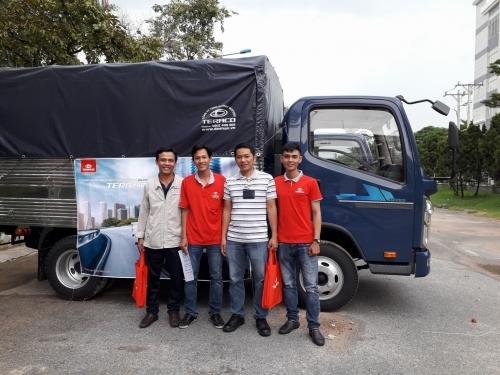 Trưng bày xe và lái thử xe tải Teraco tại khu công nghiệp Sóng Thần 2 - Dĩ An – Bình Dương.