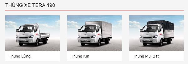 3 loại thùng xe tải Teraco hiện nay